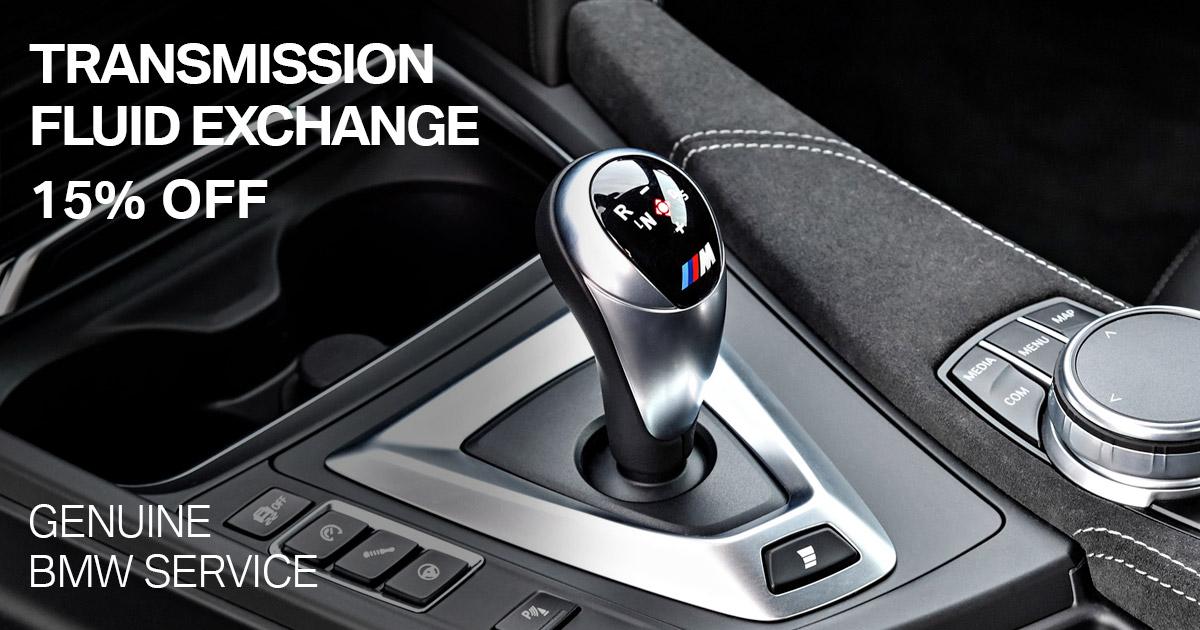 BMW Transmission Fluid Exchange Service Special Coupon