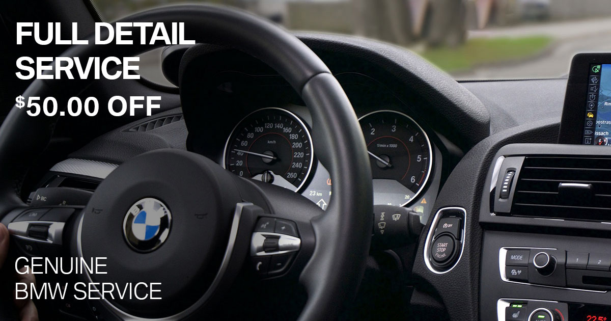 BMW Full Detail Service Service Special Coupon