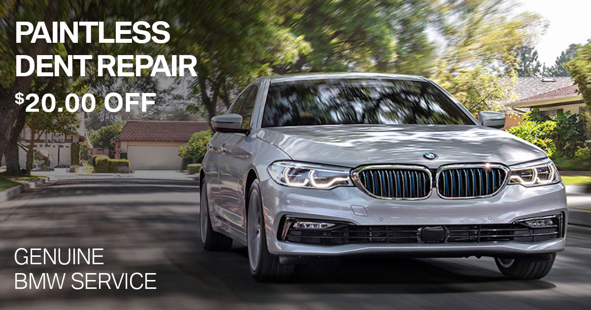 BMW Paintless Dent Repair Service Special Coupon