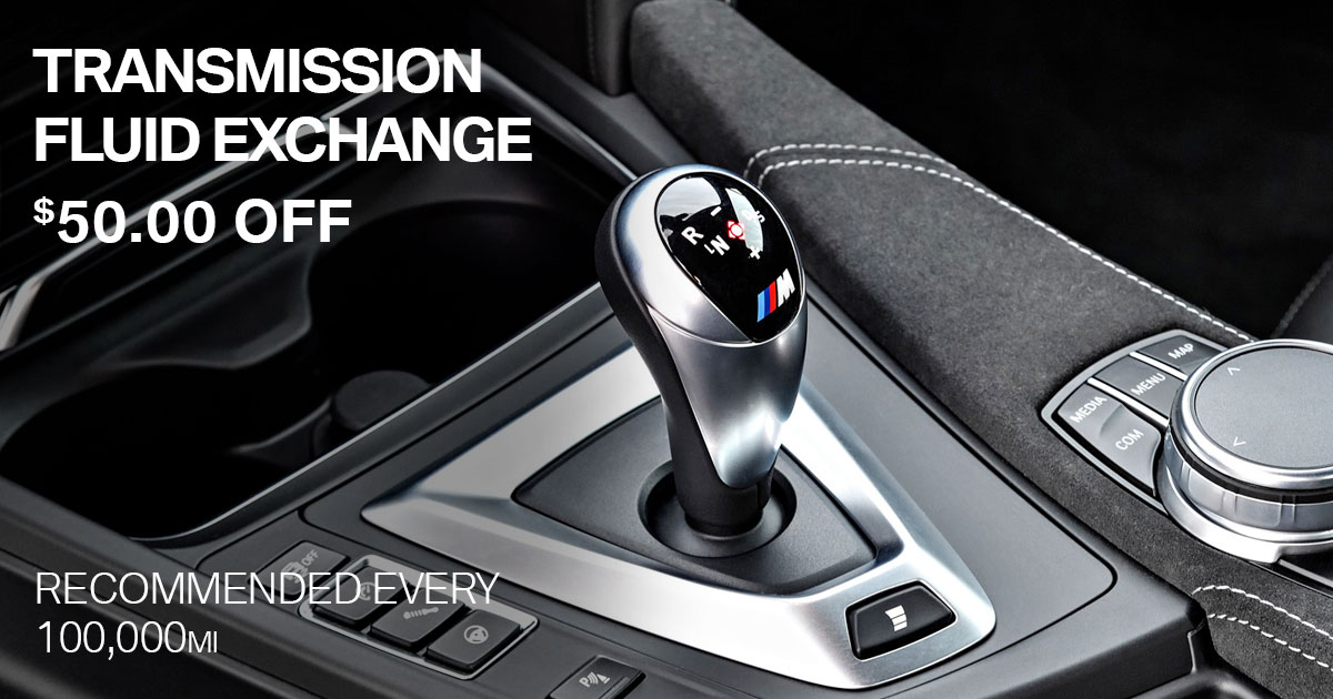 BMW Transmission Fluid Exchange Service Special Coupon