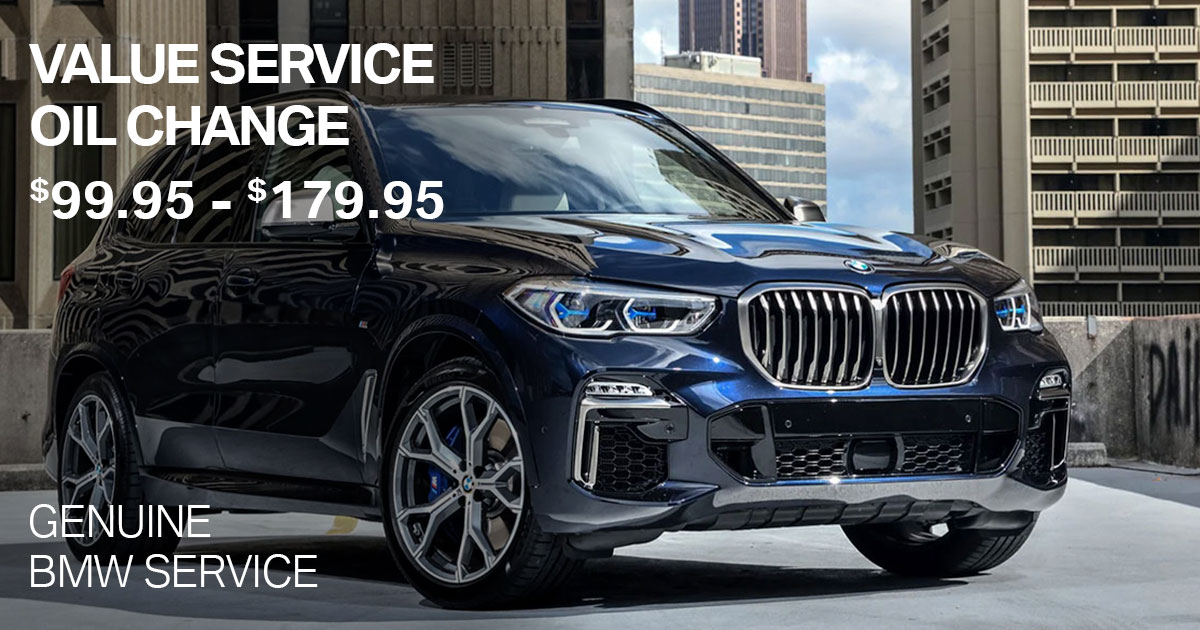 BMW Value Service Oil Change Service Special Coupon