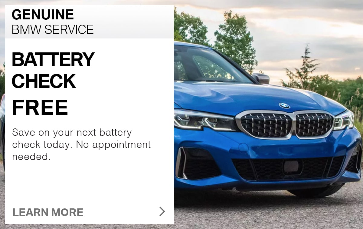 BMW Battery Check Service Special Coupon