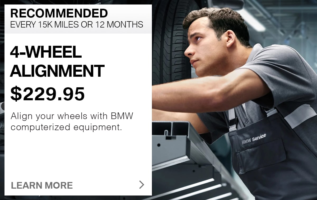 BMW 4-Wheel Alignment Service Special Coupon
