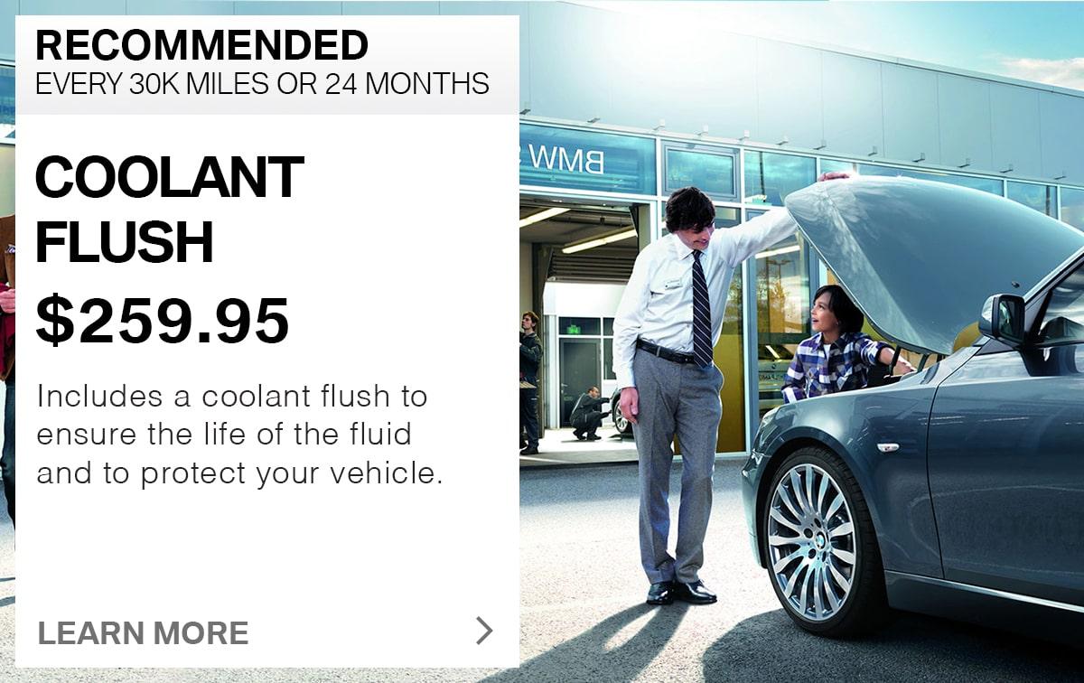 BMW Coolant Fluid Flush Service Special Coupon