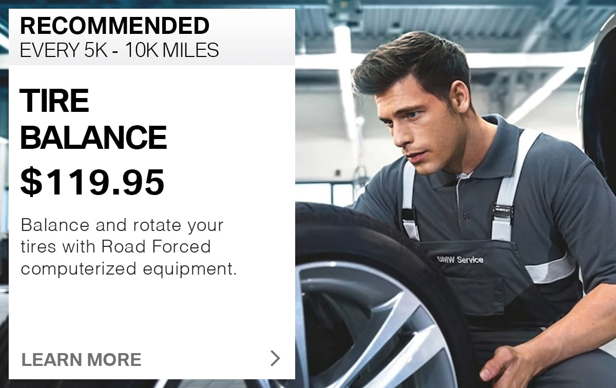 BMW Tire Balance Service Special Coupon
