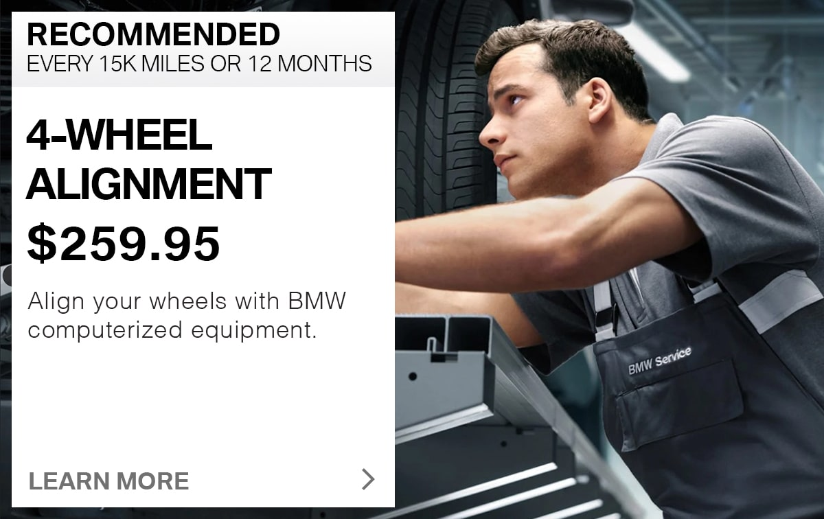 BMW 4-Wheel Alignment Service Special Coupons