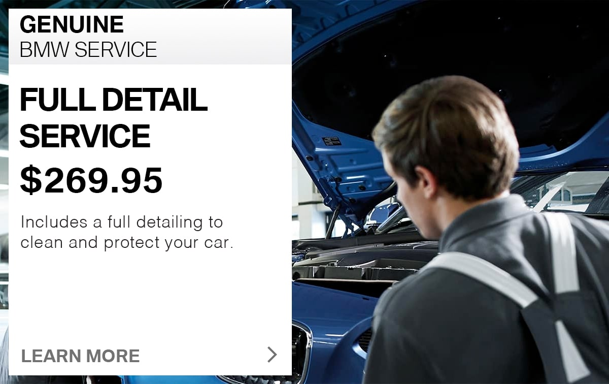 BMW Full Detail Service Special Coupon