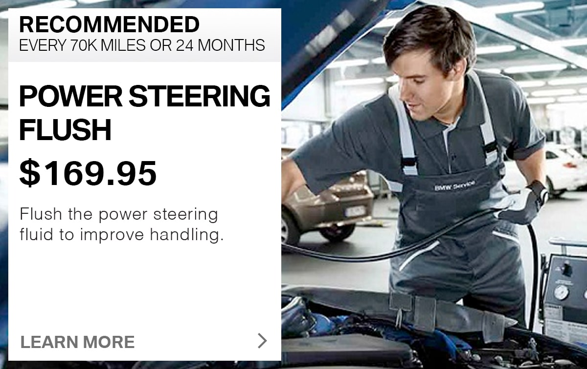 BMW Power Steering Flush Service Special Coupon