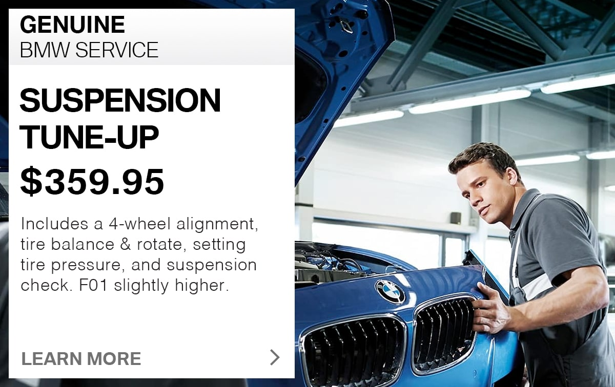 BMW Suspension Tune-Up Service Special Coupon