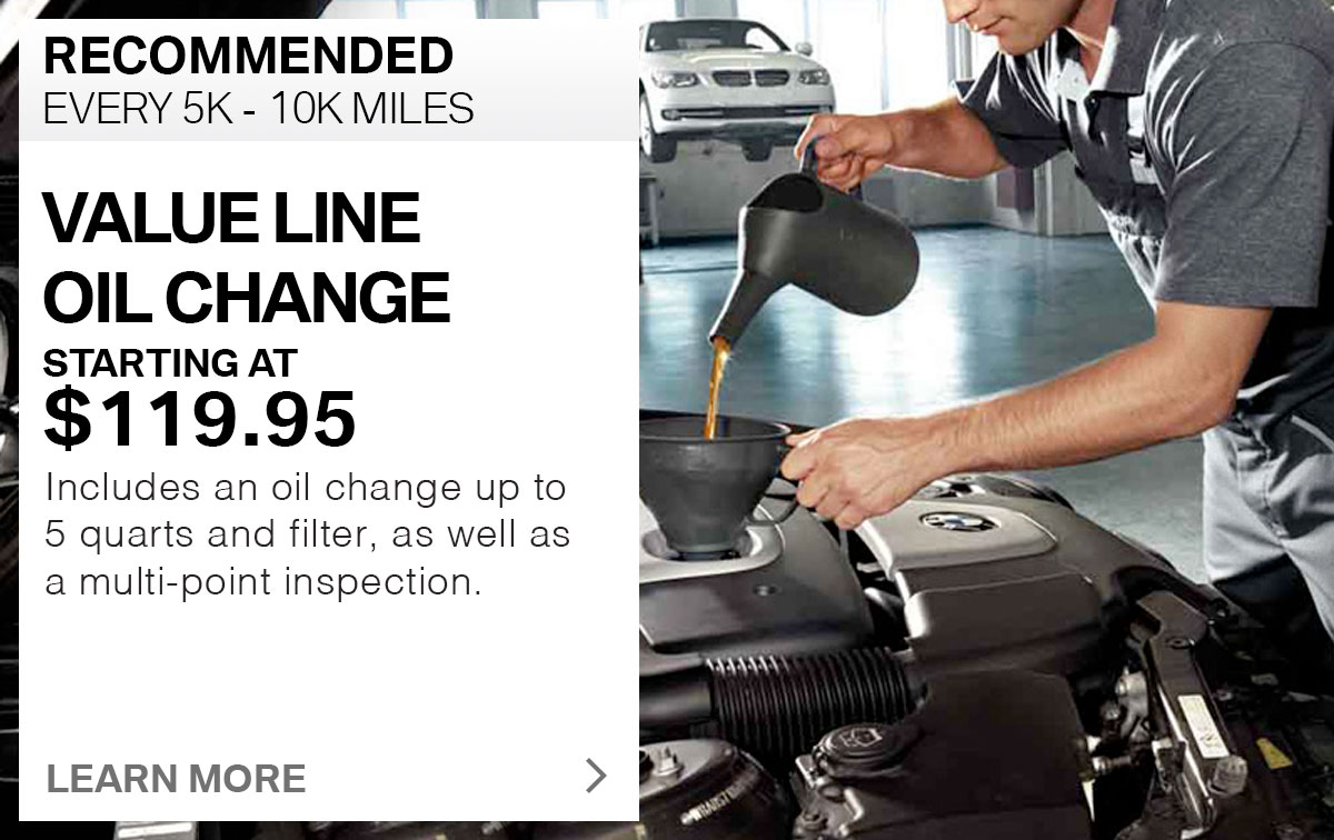 BMW Value Line Oil Change Service Special Coupon
