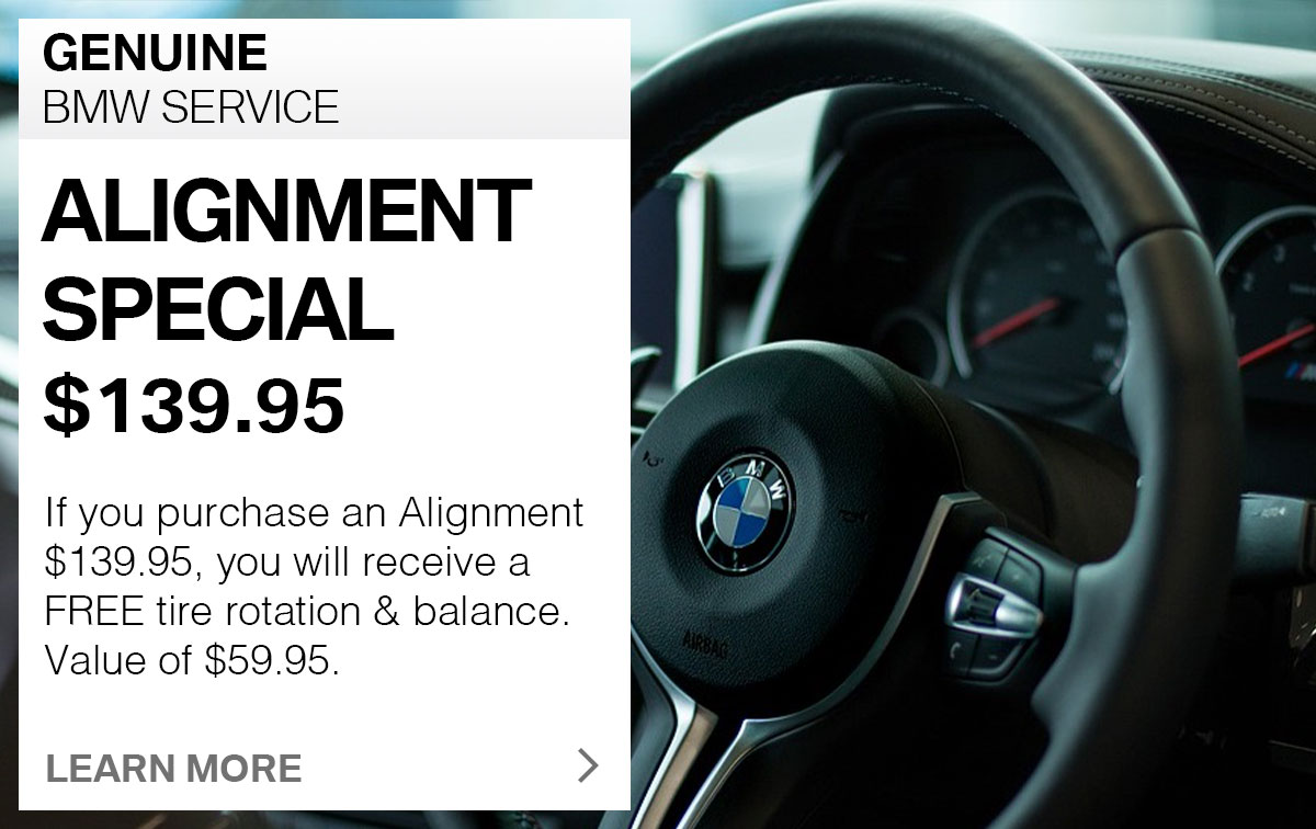 BMW Two-Wheel Alignment Service Special Coupon
