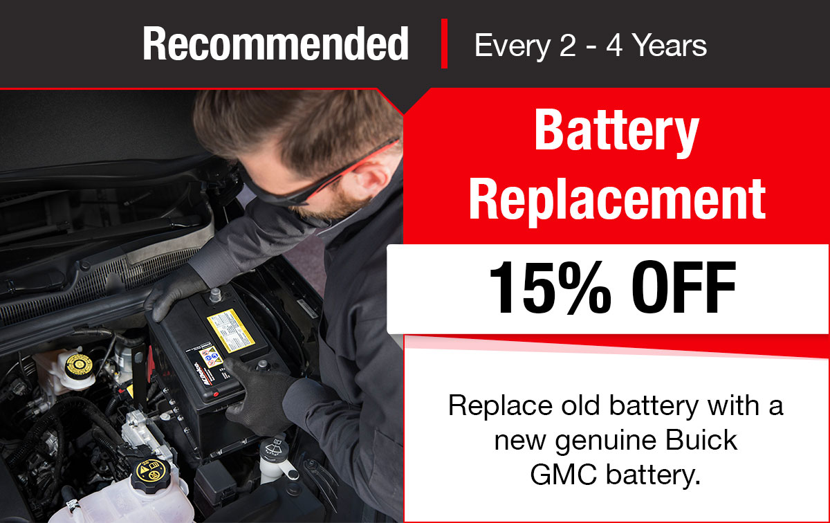 Buick GMC Battery Replacement Service Special Coupon