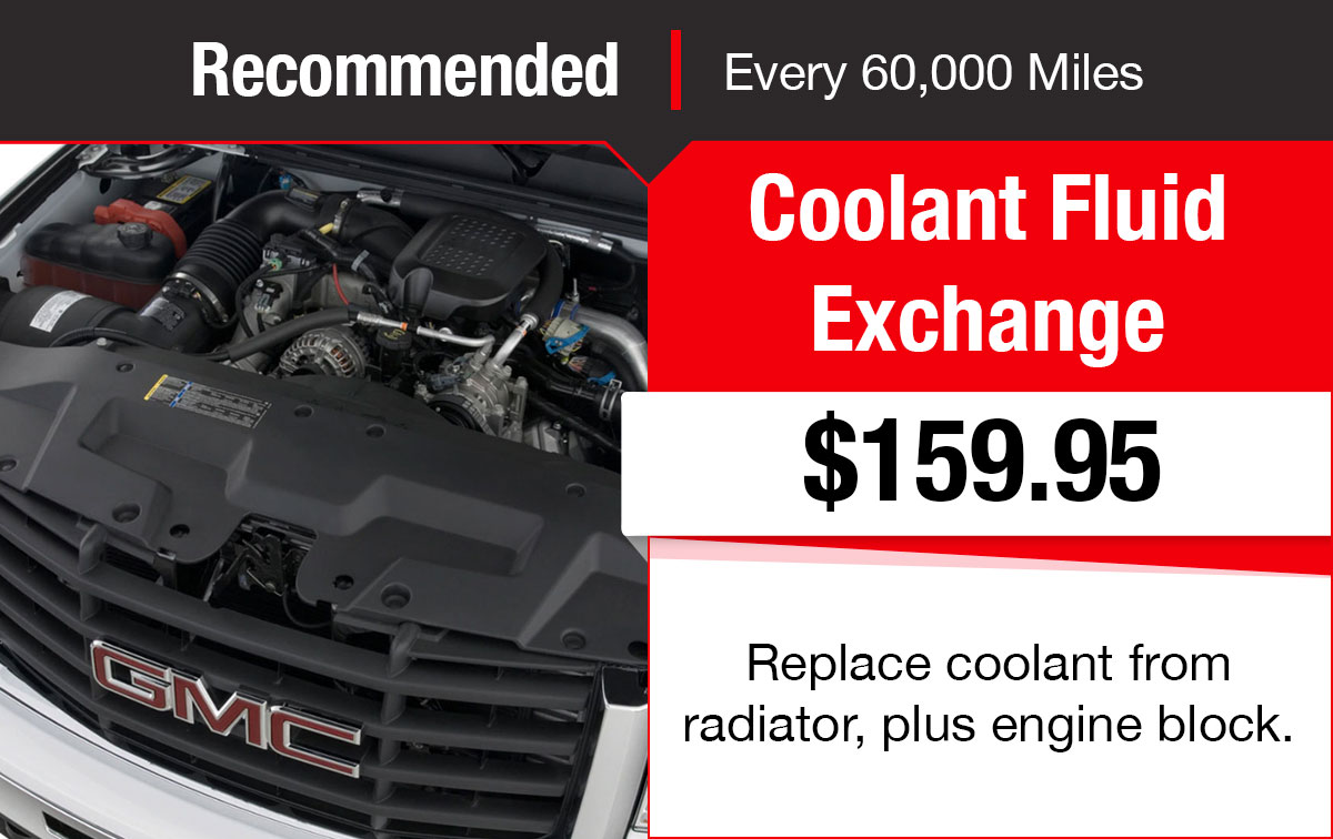 Buick GMC Coolant Fluid Exchange Service Special Coupon