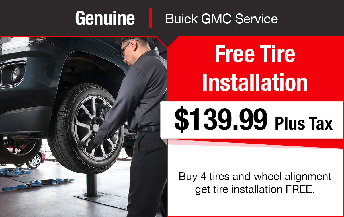 Buick GMC Free Tire Installation Service Special Coupon
