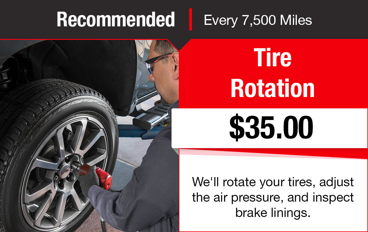Buick GMC Tire Rotation Service Special Coupon