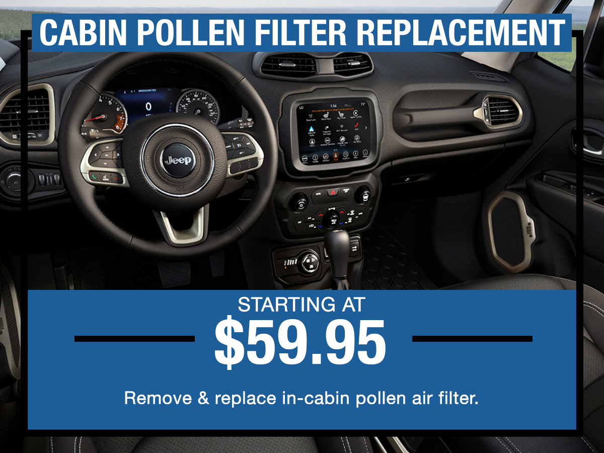 Cabin Pollen Filter Replacement Service Coupon