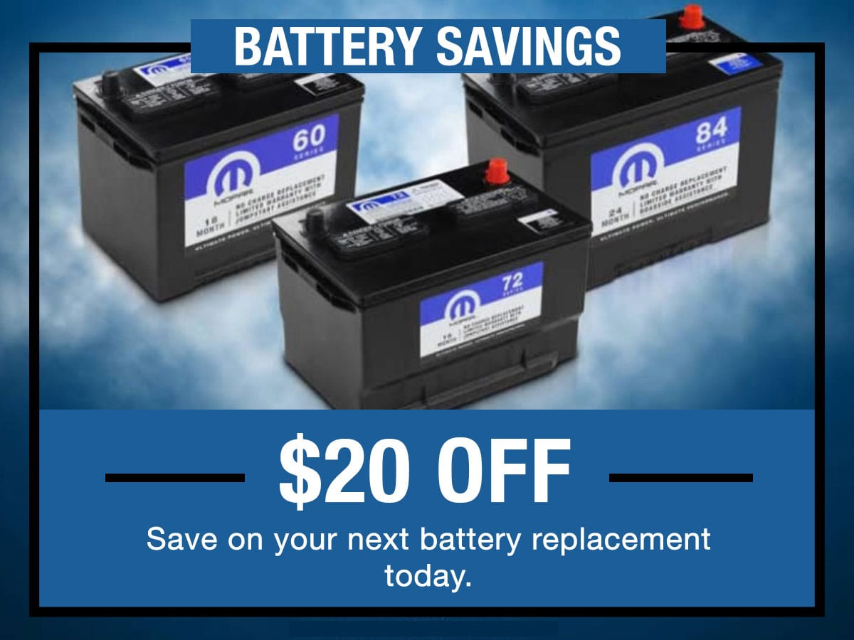 CDJR Battery Service Special Coupon