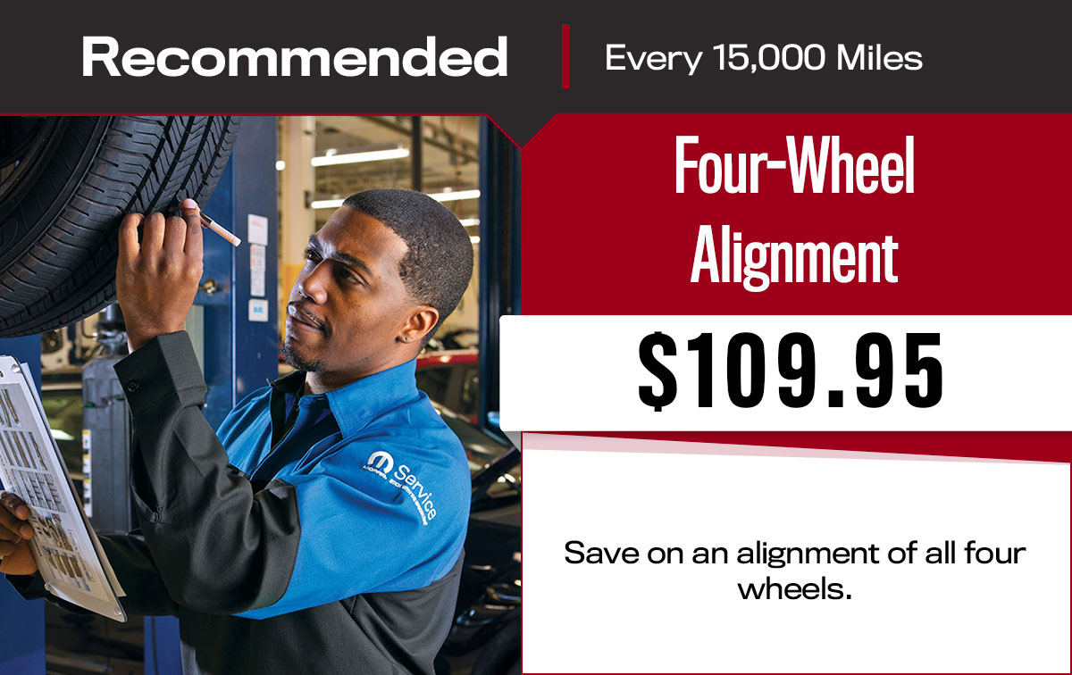 Four-Wheel Alignment Service Special Coupon