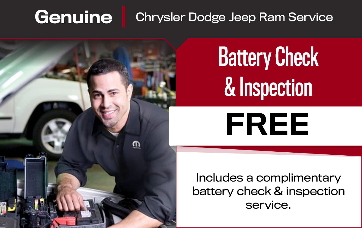 Battery Check & Inspection Service Special Coupon