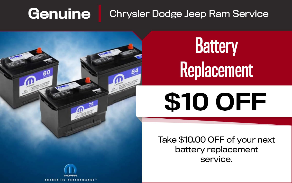 Battery Replacement Service Special Coupon