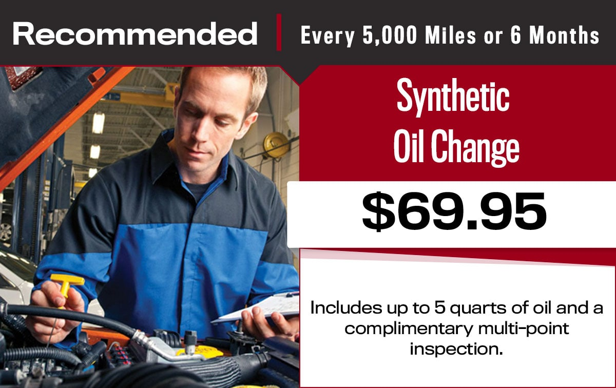 Synthetic Oil Change Service Special Coupon