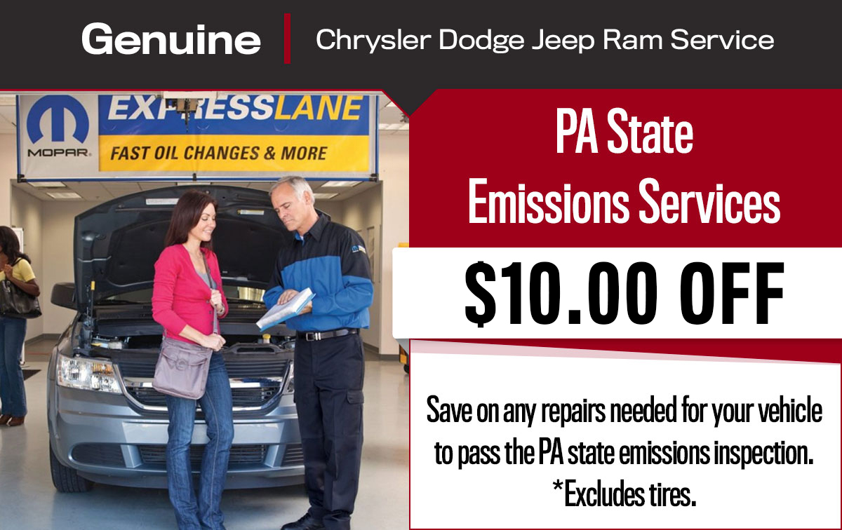 CDJR PA State Inspection Service Special Coupon