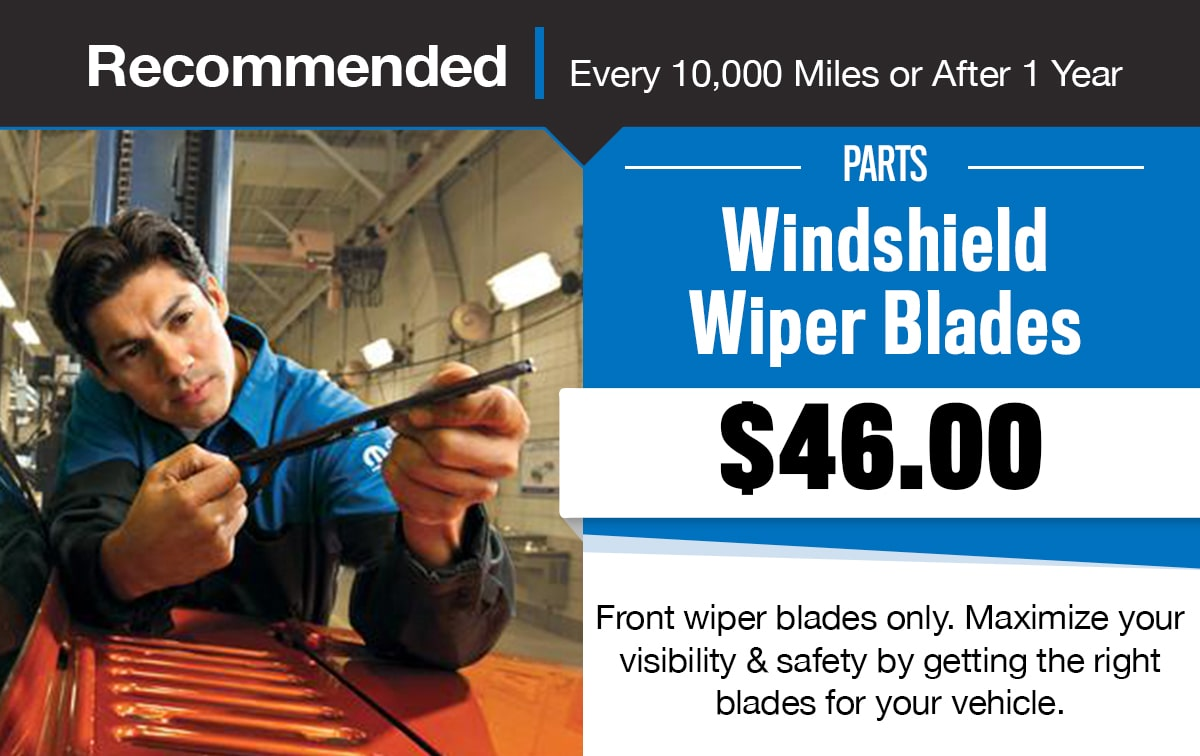 CDJR Windshield Wiper Blades Service Special Coupon