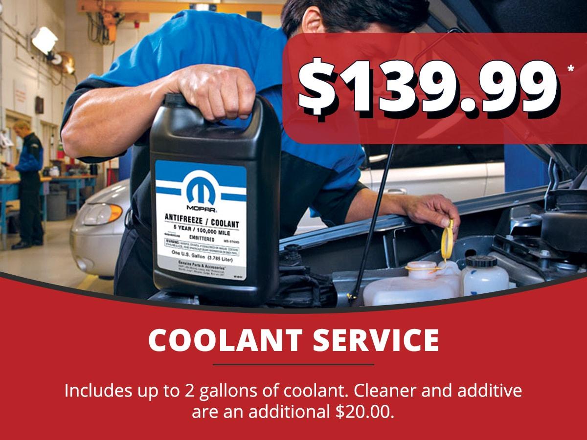 Coolant Service Coupon