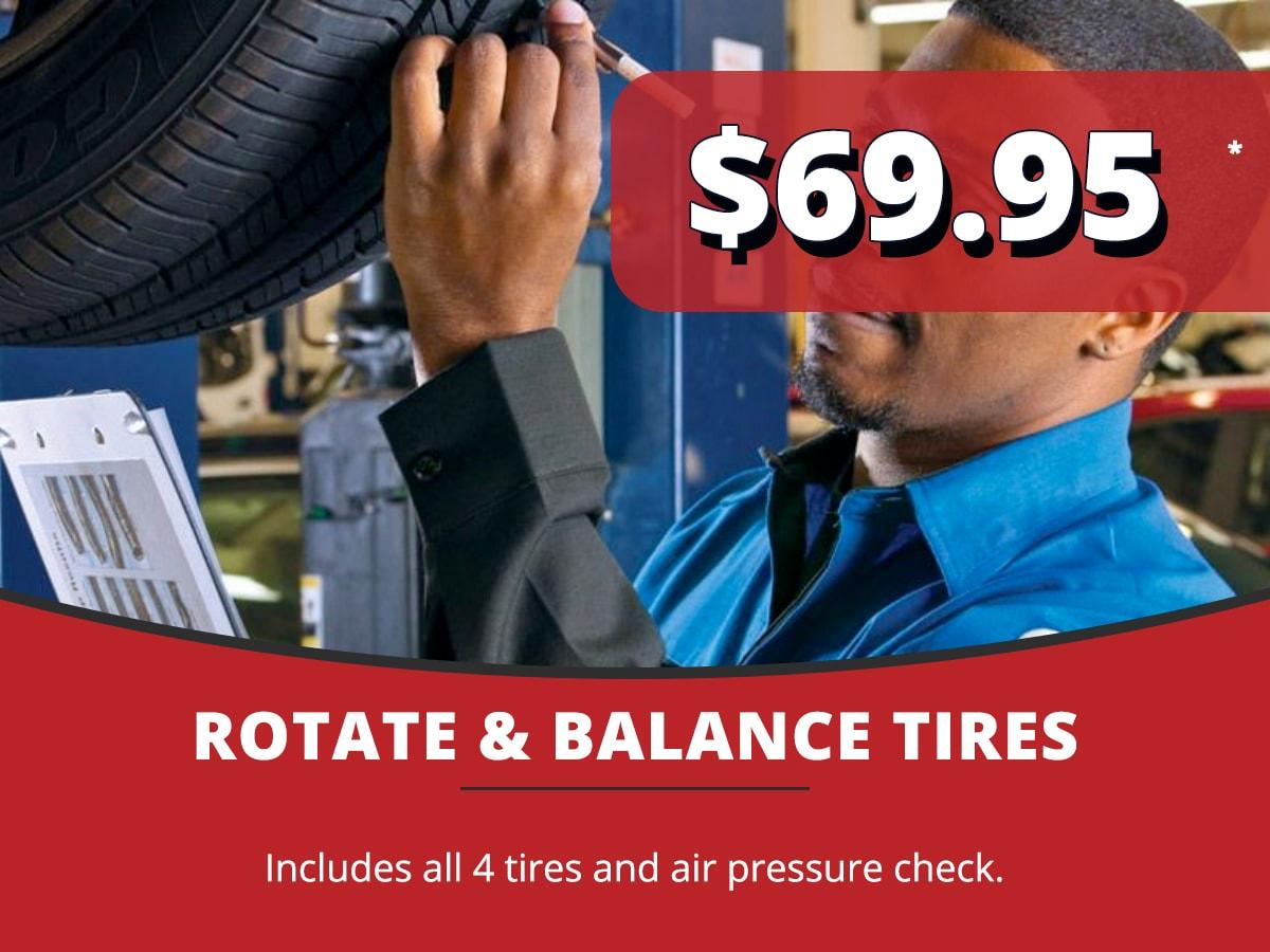 Rotate & Balance Tires Service Coupon