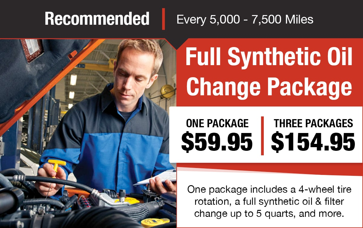 Full Synthetic Oil Change Package Service Special Coupon