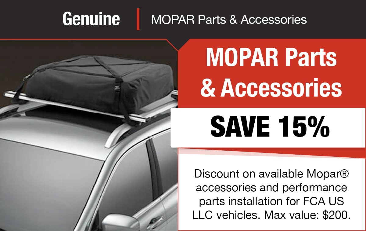 Genuine Mopar Parts & Accessories Service Special Coupon