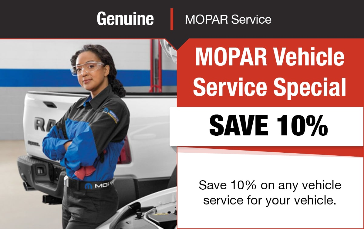 Mopar Vehicle Service Special Coupon