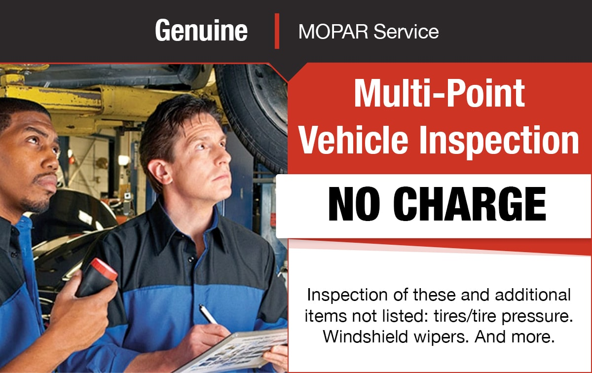 Multi-point Vehicle Inspection Service Special Coupon