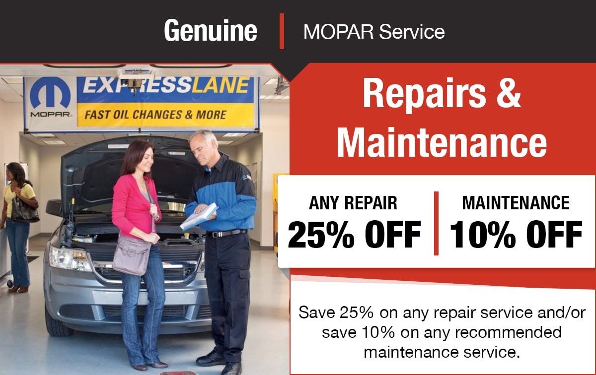 Repair & Recommended Maintenance Service Special Coupon