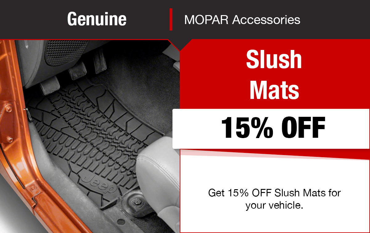 Chrysler Dodge Jeep Ram Slush Mats Special Coupon
