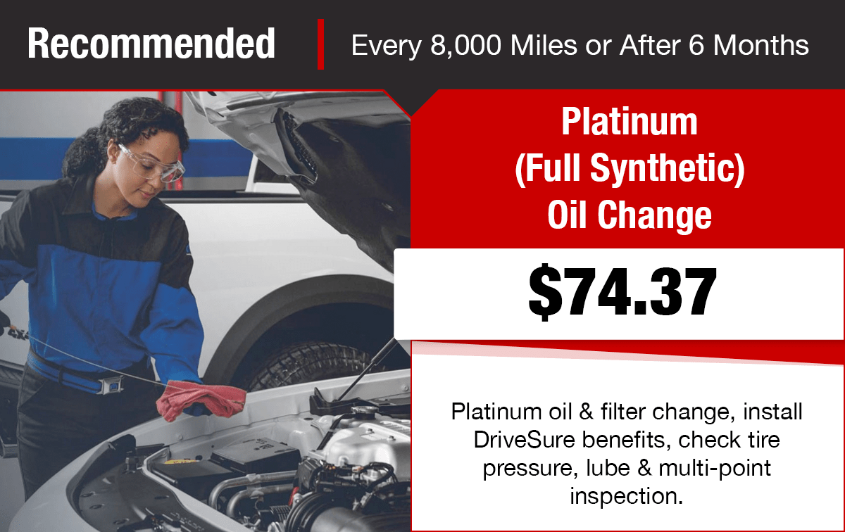 Chrysler Dodge Jeep Ram Platinum Full Synthetic Oil Change Service Special Coupon