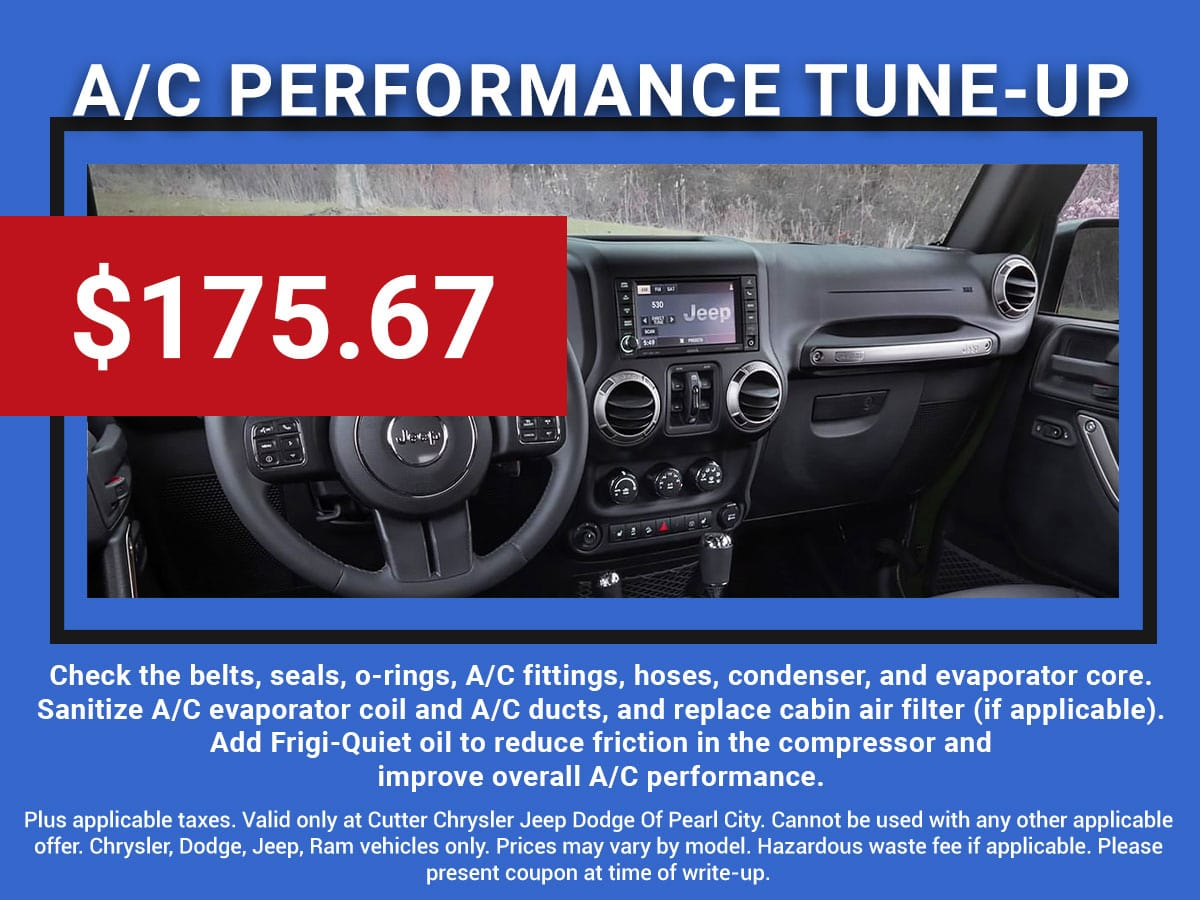CDJR A/C Performance Tune-Up Service Coupon