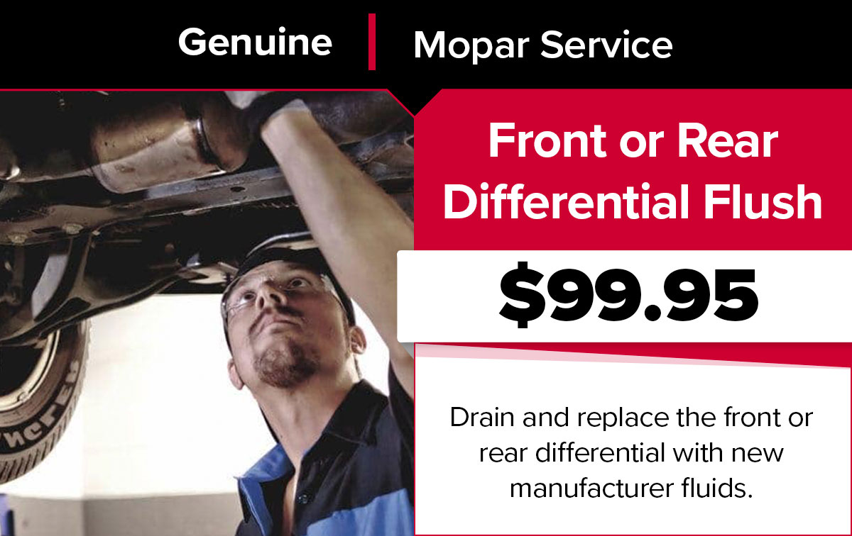 Mopar Front or Rear Differential Flush Service Special Coupon