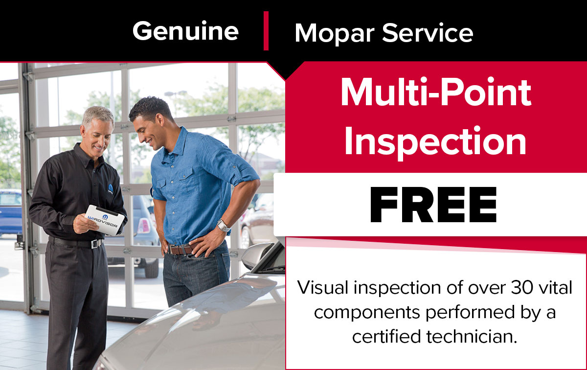 Mopar Multi-Point Vehicle Inspection Service Special Coupon