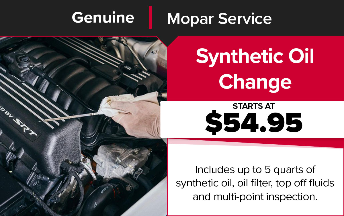 Mopar Synthetic Oil Change Service Special Coupon