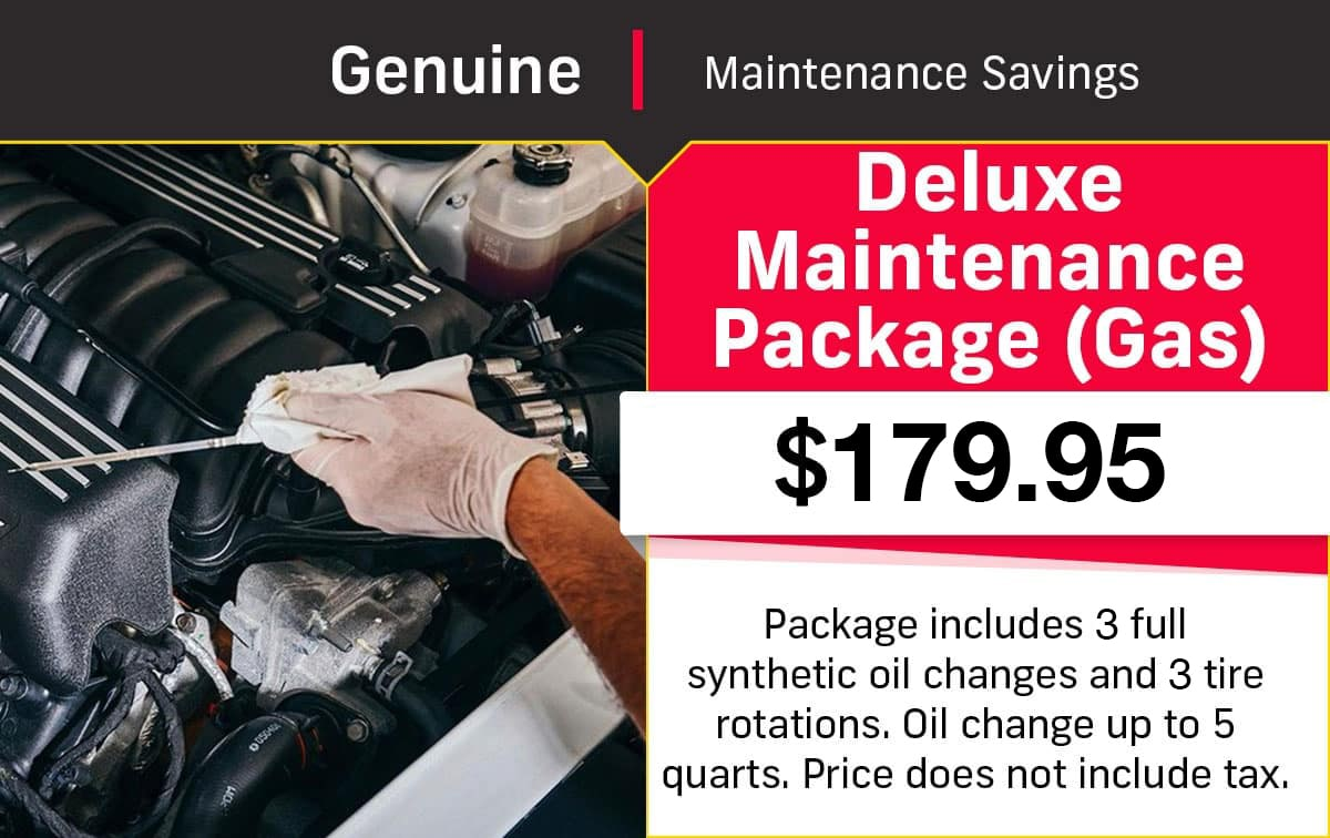 CDJR Gas Deluxe Maintenance Service Special Coupon
