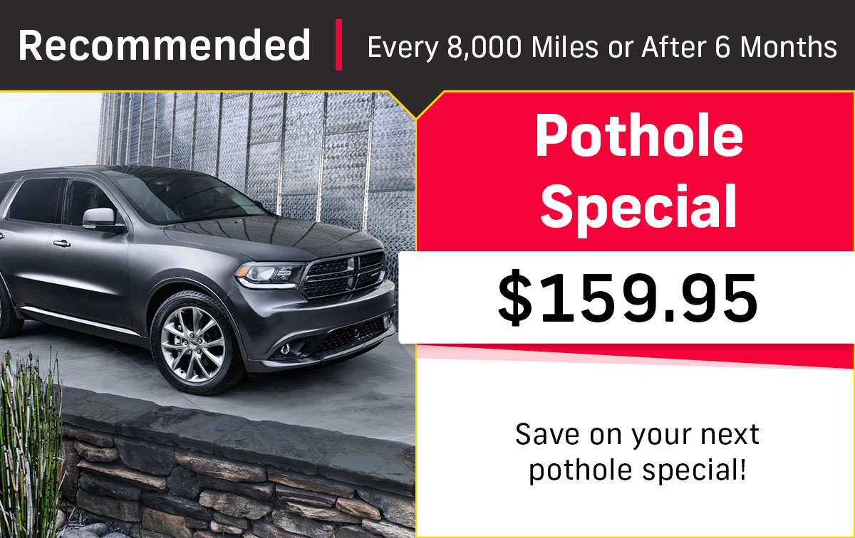 CDJR Pothole Service Special Coupon