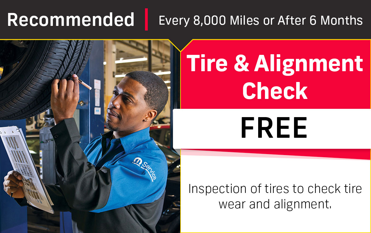 CDJR Tire & Alignment Check Service Special Coupon