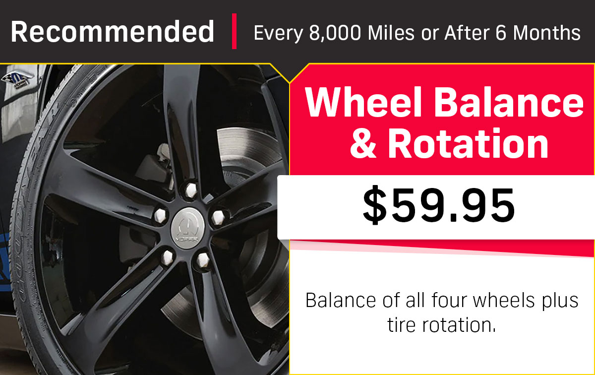 CDJR Wheel Balance & Rotation Service Special Coupon