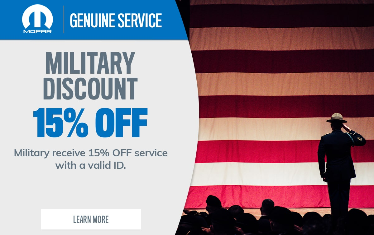CDJR Military Discount Service Special Coupon