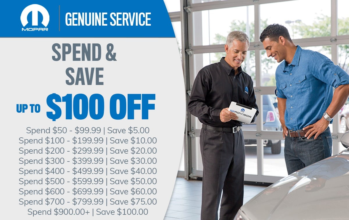 CDJR Spend & Save Service Special Coupon