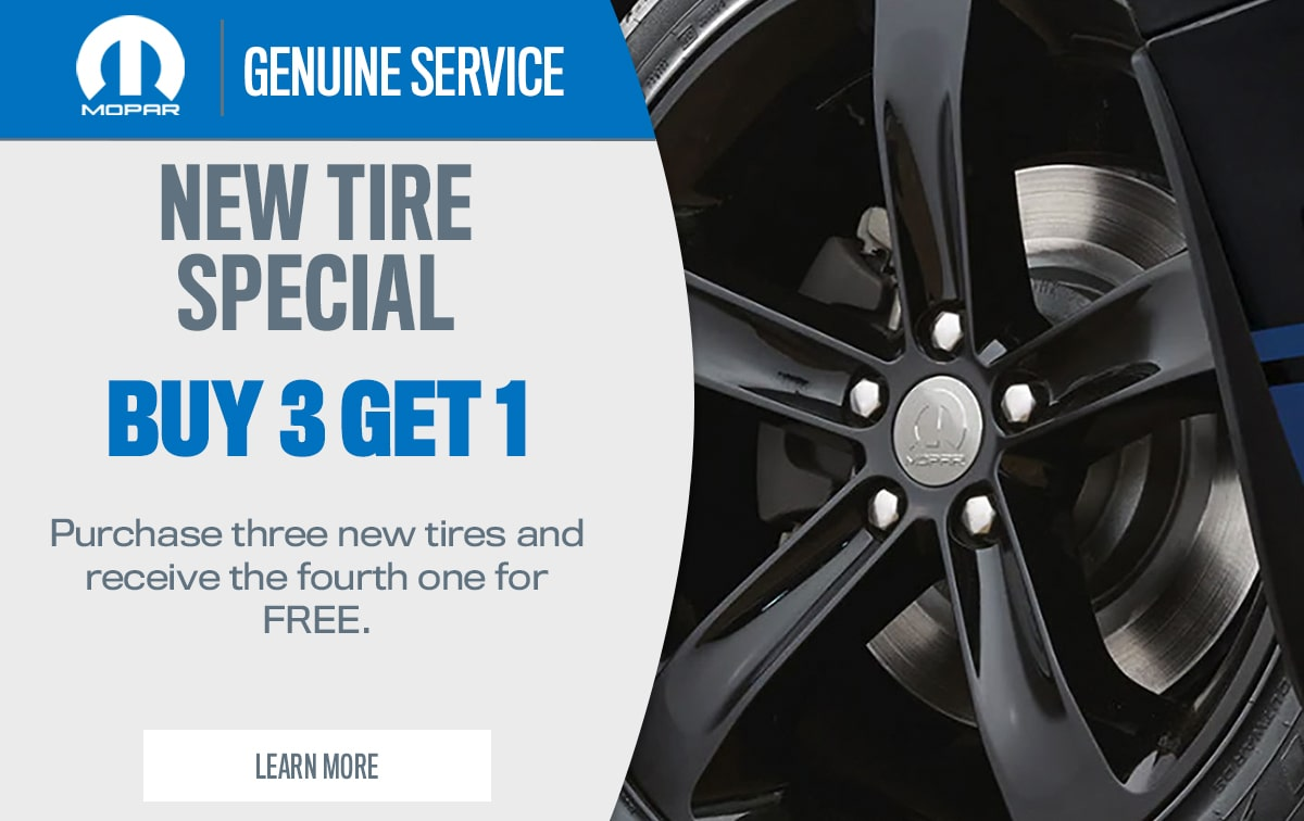 CDJR New Tire Service Special Coupon
