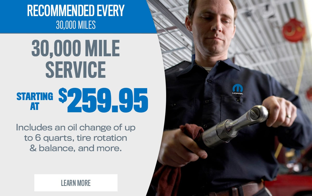 CDJR 30,000-Mile Service Special Coupon