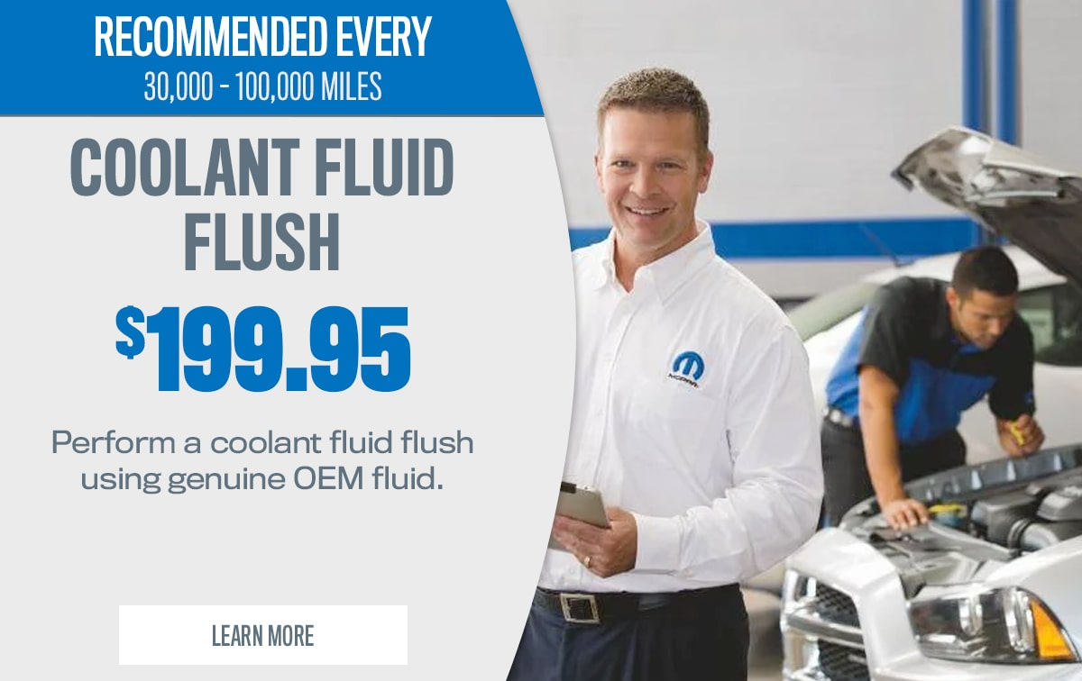 CDJR Coolant Fluid Flush Service Special Coupon