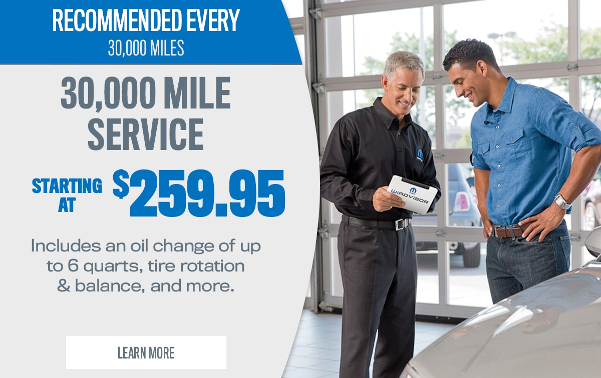 CDJR 30,000 Mile Service Special Coupon